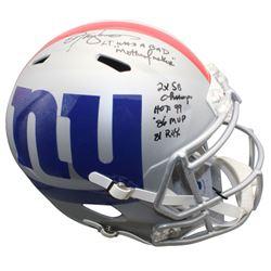 Lawrence Taylor Signed New York Giants Full-Size AMP Alternate Speed Helmet with Multiple Career Sta