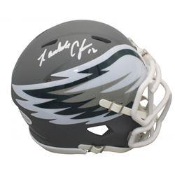 Randall Cunningham Signed Philadelphia Eagles AMP Alternate Speed Mini Helmet (Beckett COA)