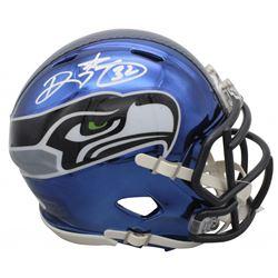 Ricky Watters Signed Seattle Seahawks Chrome Speed Mini Helmet (Beckett COA)
