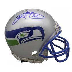 Ricky Watters Signed Seattle Seahawks Throwback Mini Helmet (Beckett COA)