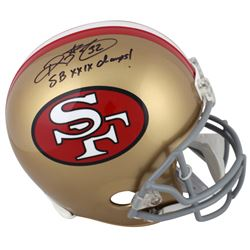 """Ricky Watters Signed San Francisco 49ers Throwback Full-Size Helmet Inscribed """"SB XXIX Champs!"""" (Bec"""