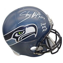 "Shaun Alexander Signed Seattle Seahawks Throwback Full-Size Helmet Inscribed ""2005 NFL MVP"" (Beckett"