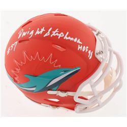 "Dwight Stephenson Signed Miami Dolphins AMP Alternate Speed Mini-Helmet Inscribed ""HOF 98"" (JSA COA)"