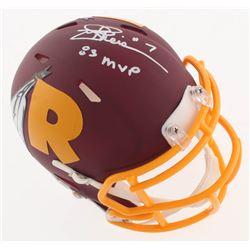 "Joe Theismann Signed Washington Redskins AMP Alternate Speed Mini-Helmet Inscribed ""83 MVP"" (JSA COA"