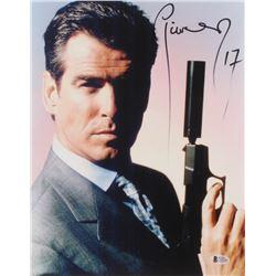 "Pierce Brosnan Signed ""James Bond"" 11x14 Photo Inscribed ""17"" (Beckett COA)"