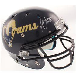Marshall Faulk Signed St. Louis Rams Full-Size Authentic On-Field Helmet (Beckett COA)