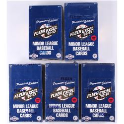 Lot of (5) 1992-93 Fleer Excel Minor League Premiere Edition Baseball Unopened Box with (250) Cards
