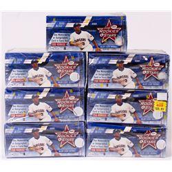 Lot of (7) 2001 Leaf Rookies  Stars Baseball Boxes
