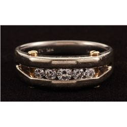 14/18Kt Two-Tone Gold  Diamond Gents Band