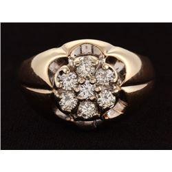 14Kt Yellow Gold  Diamond Gents Ring