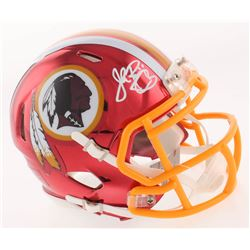 John Riggins Signed Washington Redskins Chrome Speed Mini-Helmet (JSA COA)