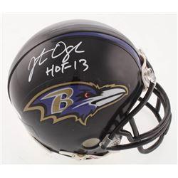 """Jonathan Ogden Signed Baltimore Ravens Mini-Helmet Inscribed """"HOF-13"""" (JSA COA)"""
