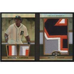 2011 Topps Triple Threads Jumbo Plus Relics Platinum #TTJPR2 Miguel Cabrera #1/1