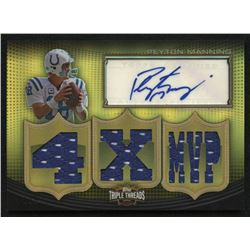 2010 Topps Triple Threads Autographed Relics Gold #TTRA3 Peyton Manning #1/9