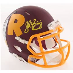 John Riggins Signed Washington Redskins AMP Alternate Speed Mini-Helmet (JSA COA)
