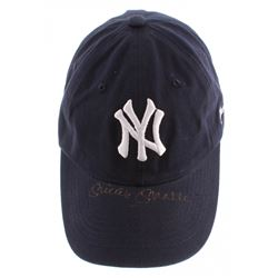Mickey Mantle Signed New York Yankees Adjustable Baseball Hat (Beckett LOA)