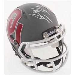 Brian Bosworth Signed Oklahoma Sooners Matte Gray Speed Mini Helmet (JSA COA)