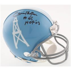 "Elvin Bethea Signed Houston Oilers Mini-Helmet Inscribed ""HOF '03"" (JSA COA)"