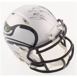 Brian Bosworth Signed Seattle Seahawks AMP Alternate Speed Mini Helmet (JSA COA)