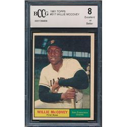 1961 Topps #517 Willie McCovey (BCCG 8)