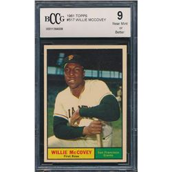 1961 Topps #517 Willie McCovey (BCCG 9)