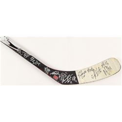 """2007-08 Providence Bruins Reebok Full-Size 65"""" Game-Used Hockey Stick Team-Signed by (18) with Nate"""
