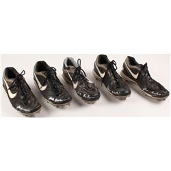 """Lot of (5) Lars Anderson Game-Used Nike Baseball Cleats Inscribed """"Game Used"""" (Your Sports Memorabil"""