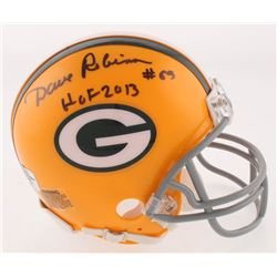 """Dave Robinson Signed Green Bay Packers Mini-Helmet Inscribed """"HOF 2013"""" (Jersey Source Hologram)"""