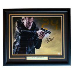 """Kiefer Sutherland Signed """"24"""" 22x27 Custom Framed Photo Display (JSA Hologram)"""