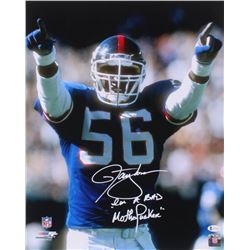 """Lawrence Taylor Signed New York Giants 16x20 Photo Inscribed """"I'm A Bad Motherf***er"""" (Beckett COA)"""