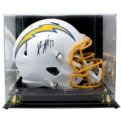 Keenan Allen Signed Los Angeles Chargers Full-Size Speed Helmet With Acrylic Display Case (Beckett C