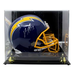 Keenan Allen Signed Los Angeles Chargers Full-Size Throwback Speed Helmet With Acrylic Display Case