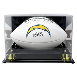 Keenan Allen Signed Los Angeles Chargers Logo Football With Acrylic Display Case (Beckett COA)
