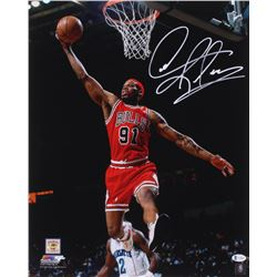 Dennis Rodman Signed Chicago Bulls 16x20 Photo (Beckett COA)