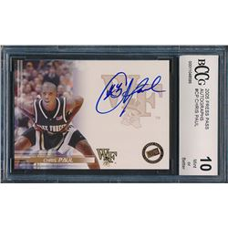 2005 Press Pass Autographs #CP Chris Paul (BCCG 10)