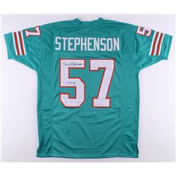 "Dwight Stephenson Signed Jersey Inscribed ""HOF 98"" (JSA COA)"
