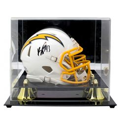 Keenan Allen Signed Los Angeles Chargers Mini Color Rush Speed Helmet With Acrylic Display Case (Bec
