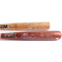 Lot of (2) Signed Game-Used Baseball Bats with Dustin Brown Signed Louisville Slugger Baseball Bat