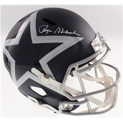 Roger Staubach Signed Dallas Cowboys Full-Size AMP Alternate Speed Helmet (Beckett COA)
