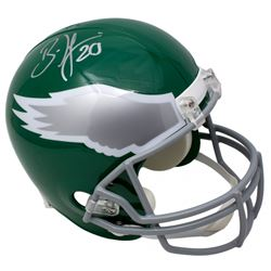 Brian Dawkins Signed Philadelphia Eagles Throwback Full-Size Helmet (JSA COA)
