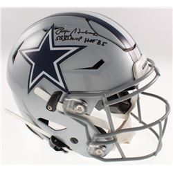 "Roger Staubach Signed Dallas Cowboys Full-Size Authentic On-Field SpeedFlex Helmet Inscribed ""SB Vl"