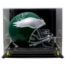 Brian Dawkins Signed Philadelphia Eagles Throwback Full-Size Helmet With Acrylic Display Case (JSA C