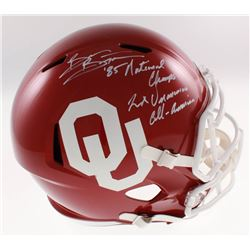 "Brian Bosworth Signed Oklahoma Sooners Full-Size Speed Helmet Inscribed ""'85 National Champs""  ""2x U"
