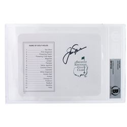 "Jack Nicklaus Signed ""Masters"" Augusta National Golf Club Scorecard (BGS Encapsulated)"
