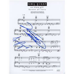 "Vince Gill  Amy Grant Signed ""House Of Love"" 8.5x11 Music Sheet (JSA COA)"
