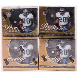 Lot of (4) 1999 Playoff Prestige SSD Football Hobby Boxes