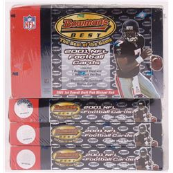 Lot of (4) 2001 Bowman's Best Football Hobby Boxes