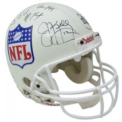 NFL Quarterback Greats Full-Size Authentic On-Field Helmet Signed By (13) Including Jim Kelly, Brett