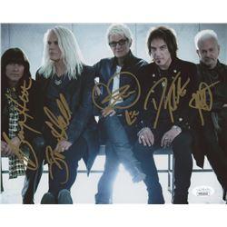REO Speedwagon 8x10 Photo Signed by (5) with Neal Doughty, Kevin Cronin, Bruce Hall, Dave Amato  Bry