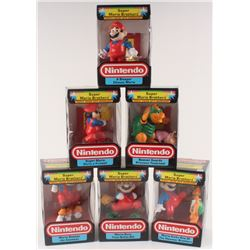 Lot of (6) Super Mario Brothers Nintendo Trophy Figurines
